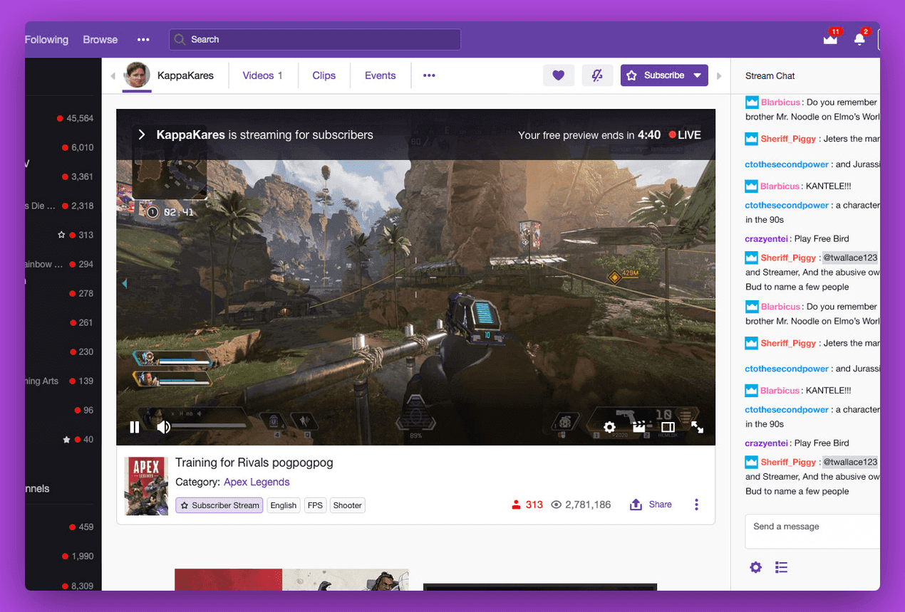 How to Make A Live Streaming Platform Like Twitch, live chat on Twitch