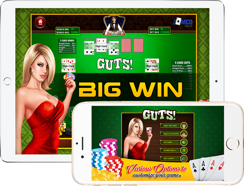 GUTS Poker is an iOS gaming app developed by an app development company in Los Angeles - RNF Technologies